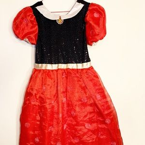 Girls 7/8 Minnie Mouse dress up dress red white